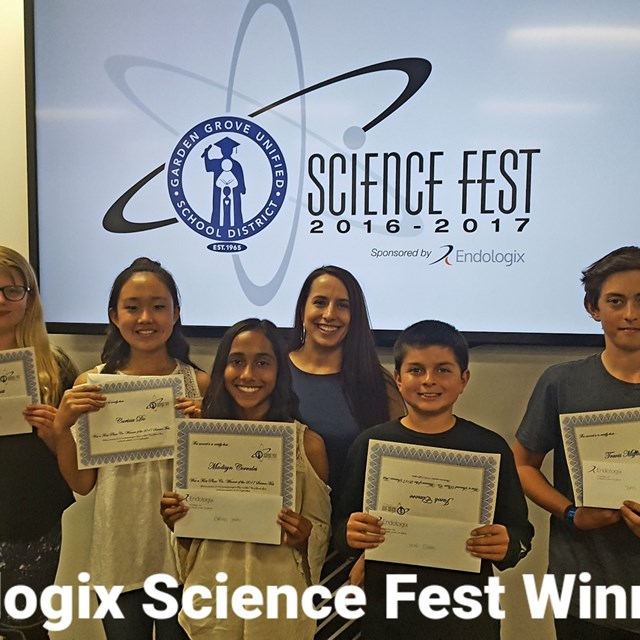 Let's take a second to congratulate our Endologix Science Fest Winners! Congratulations!