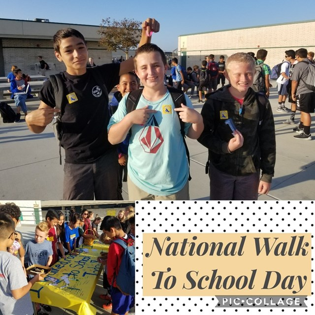 This National Walk to School Day collage depicts all the fun our Roadrunners had during the event!