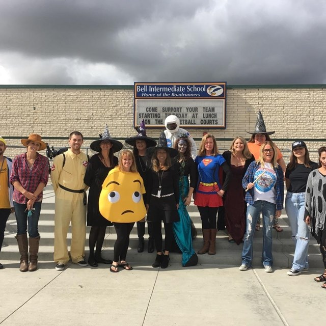 Bell teachers celebrate Halloween with outrageous costumes!