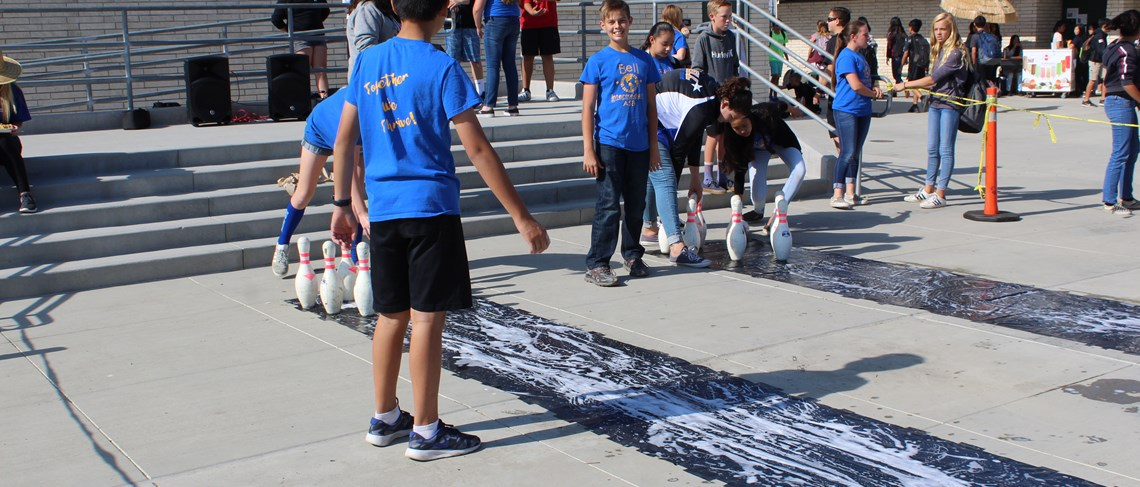 ASB keeps students engaged with fun lunchtime activities.