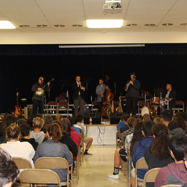 Jazz Musician Assembly courtesy of the Philharmonic