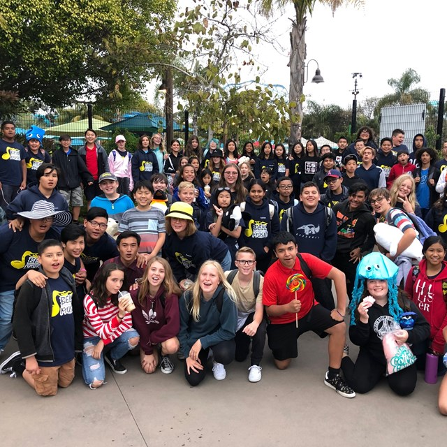 The Music students enjoyed celebrating at Sea World!